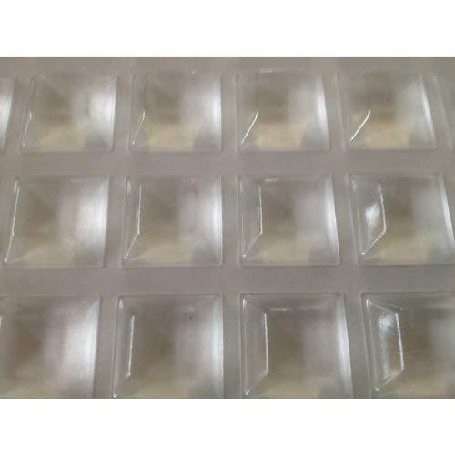 2 x Griffe XXL für Terrarium Scheiben selbstklebend Elastikpuffer eckig