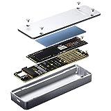 AMPCOM Type-C 3.1 Gen2 to M.2 PCIe NVMe SSD 外付けケース アルミニウム ハードドライブ外付けエンクロージャ 2280/2260/2242/2230 M-Key対応 NVMe SSD キャディ用 USB Type A & Cケーブル付き