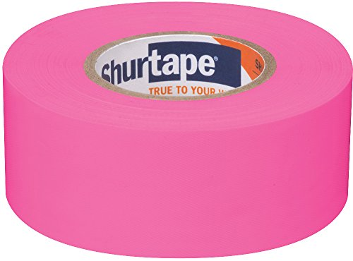 "Shurtape FM 200 Non-Adhesive Flagging Tape- PINK - 1.1875"" x 300' (232572)"
