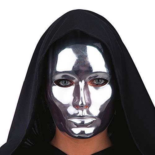 CARNIVAL TOYS S.R.L. Theater-Maske für Erwachsene Silber Einheitsgröße