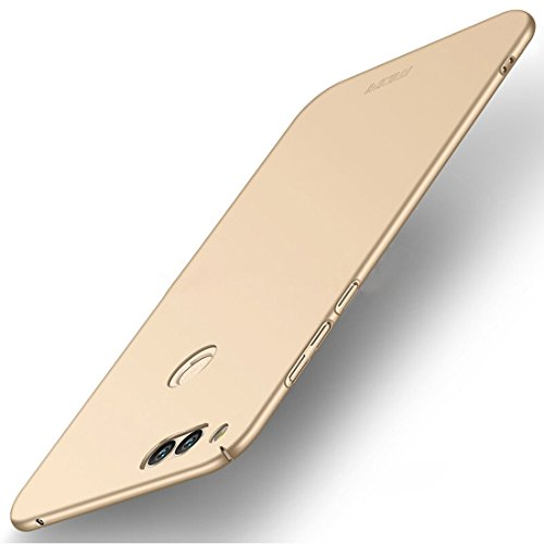 XIANGHENGDA-Fashion phone case for Huawei Honor Play 7X PC Ultra-Thin Edge Fully Wrapped up Protective Back Cover Case (Color : Gold)