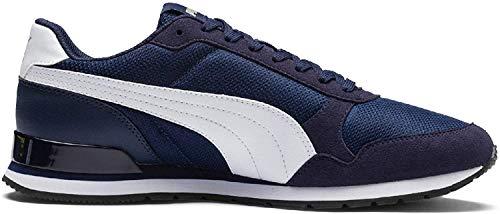Puma Unisex-Erwachsene ST Runner v2 Mesh Sneaker, Blau (Peacoat White), 42.5 EU