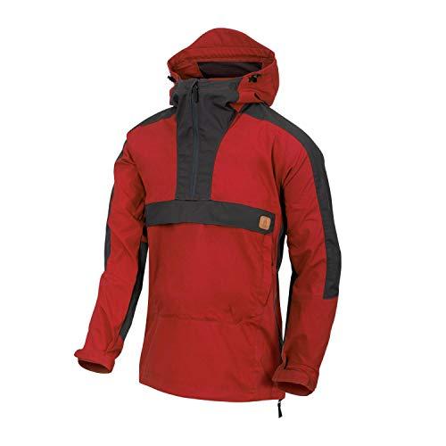 Helikon-Tex Woodsman Anorak Jacket - DuraCanvas Crimson Sky/ASH GRAU L/Regular
