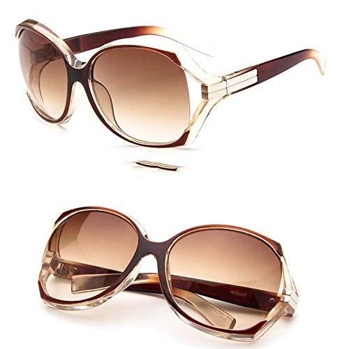 Ygerbkct 9507 Gafas de Sol Deportivas Gafas de Sol con Personalidad Espejo de Rana Conducción Personalidad Espejo de Color Diseño de Marca de Lujo