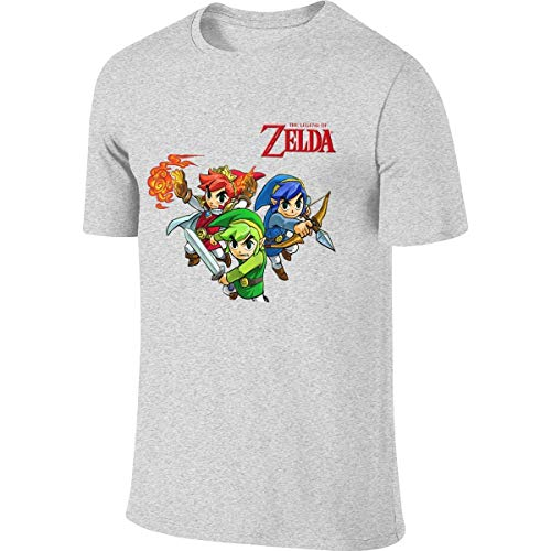 Man Personalized Funny Tees Game Legend Zelda Tri Force Heroes T Shirts Camisetas y Tops(XX-Large)