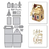Cutting Dies - Christmas House Shaped Gift Bag Craft Dies Metal Cutting Die Diy Ornaments Decorative Mold - Thank Box Cut The Bow Making China Used Stamp Gift