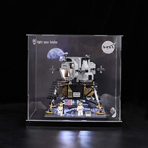 POXL Display Case per NASA Apollo 11 Lunar Lander, Acrylic Display Box Compatible con Lego 10266 - Modelo No Incluido