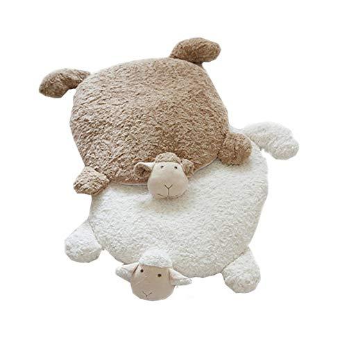 Best Buy! YYATT Warm Animal Floor mat,Soft Velvet Foot pad Crawling mat Game pad Bedroom Bedside Rug...