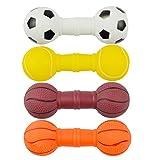 STOBOK Juguete para Masticar Hueso de Perro Juguete para Masticar Resistente a La Mordedura Juguetes para Perros Juguetes para Limpieza de Dientes para Mascotas 4 Piezas