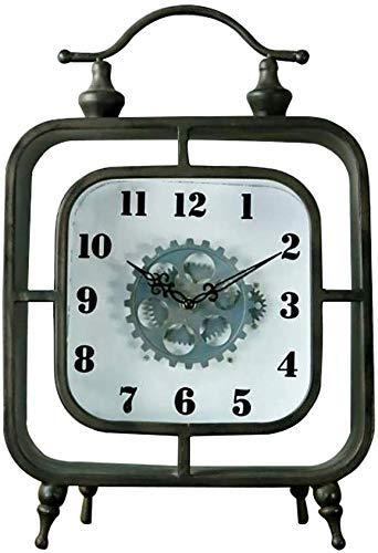 HYY-YY British Industrial Wind plein Clock Europese smeedijzer metaaltafelblad Decorative Clock Wine Cooler Bar Decoration