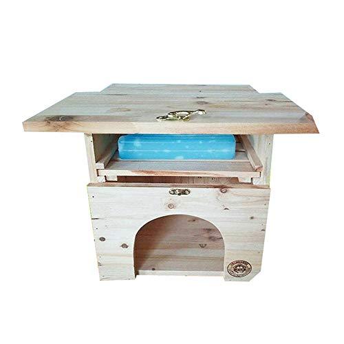 YAMEIJIA Chinchilla Space luftgefülltes Nest, wasserdichtes Massivholzbrett Hamster Eichhörnchen EIS-Nest klimatisiert