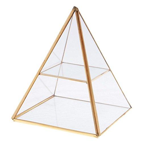 Tubayia Pyramide Geometrisch Terrarium Box Schmuck Aufbewahrung Kasten für Dekoration Geschenk