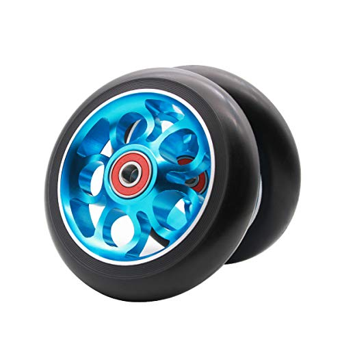 Z-FIRST 2Pcs 110mm Pro Scooter Wheels with ABEC 9 Bearings Fit for MGP/Razor/Lucky Envy/Vokul Pro Scooters Replacement Wheels (Blue)