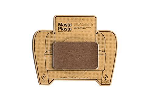 MastaPlasta - Parches AUTOADHESIVOS para reparación de Cuero y Otros Tejidos. MARRÓN Claro. Elije el tamaño y el diseño. Primeros Auxilios para sofás, Asientos de Coche, Bolsos, Chaquetas