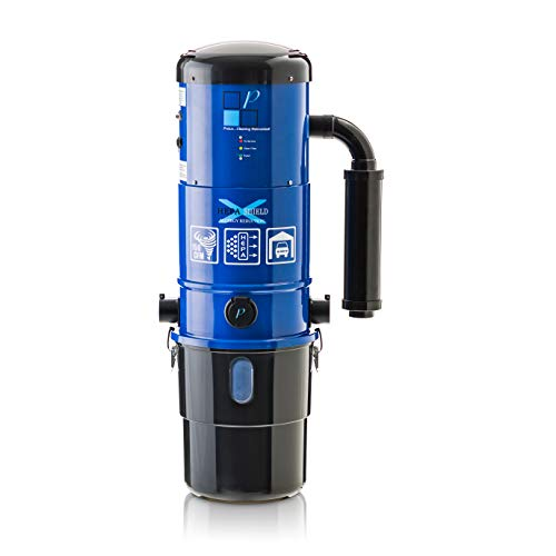 Prolux cv12000 blue central vacuum cleaner power unit with powerful 2 stage motor and hepa filtration