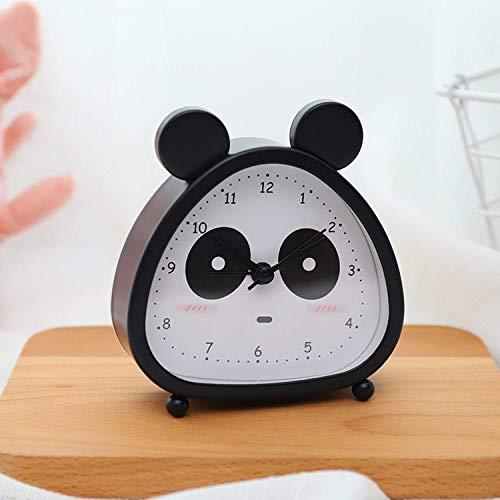O-Kinee Kinderwecker, Analoger Wecker, Panda Mini Kein Tickendes Wecker Mit Lautem Alarm, Batteriebetriebene Weckuhr