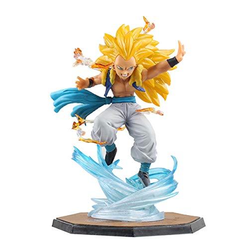 Yzoncd Anime Dragon Ball Z Son Goku Gotenks Super Saiyan 3 Figuras De Accion PVC Ninos Regalo Munecas De Juguete 16Cm