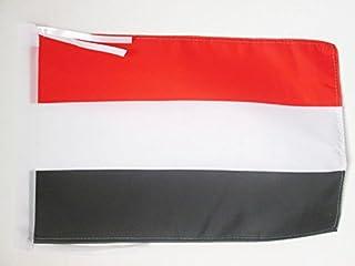 AZ FLAG Bandera de Yemen 45x30cm - BANDERINA YEMENÍ 30 x 45 cm cordeles