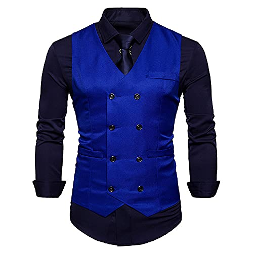 Chalecos de vestir para hombres Slim Fit Mens traje chaleco masculino
