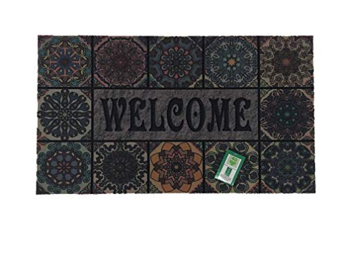 De'Carpet Felpudo Entrada Casa Original Divertido Moderno Fibra Poliester Fregable Welcome Baldosa 40x70