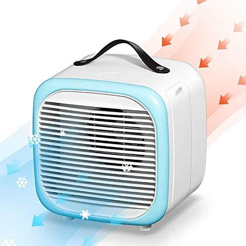 Mini refrigerador de Aire portátil Ventilador USB multifunción Ventilador extraíble 2 Mesa de Velocidad del Viento Ventilador de Aire Acondicionado refrigerador de Aire para el hogar-Azul