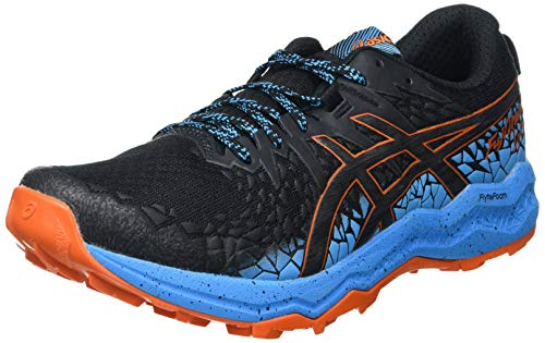 Asics Herren Fujitrabuco Lyte Walking-Schuh, Black/Digital Aqua, 44.5 EU
