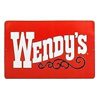 看板 エンボスサイン WENDY'S ウェンディ-ズ OLD RED 高さ21×幅33cm