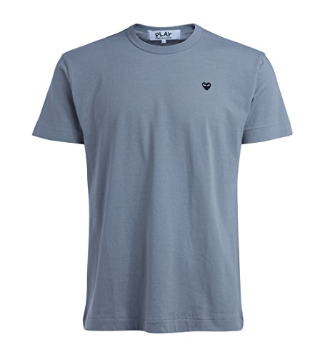 Comme des Garçons Play Camiseta de Hombre Gris corazón Negro
