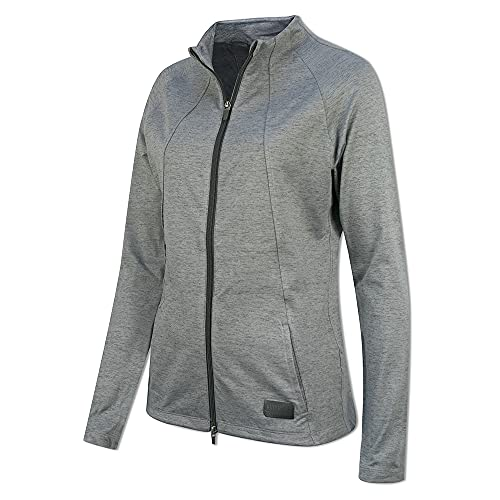 PUMA Cloudspun W Warm Up Jacket Sudadera, Mujer, Black Heather, L