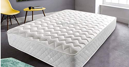 Mattress-Haven Mattress Memory Foam Mattress, Sprung Mattress With Memory Foam And A Deluxe Knitted Micro Quilted Stretch Fabric,6FT - Superking UK