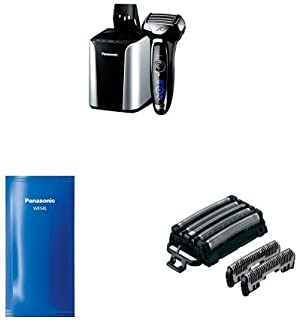 Panasonic Arc5 Electric Razor ES-LV95-S with Automatic Cleaning Solution and Inner/Outer Replacement Blades Included