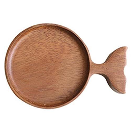 Cocinar cuchara de madera Imitación peces en forma de vajilla de vajilla de madera estilo japonés de sushi placa coreana cocina barbacoa plato postre pastel plato Espátula de madera para cocinar.