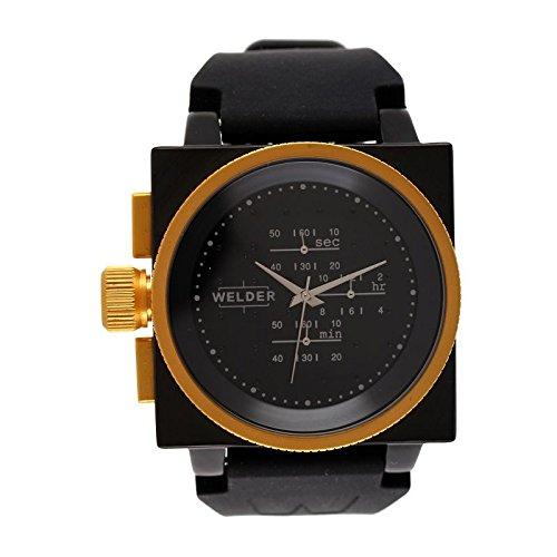 Cofanetto orologio Welder Uomo K-26modello Cronografo nera, dorata e...
