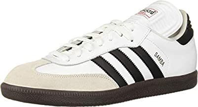 adidas Men's Samba Classic Running Shoe, white/black/white, 11 M US