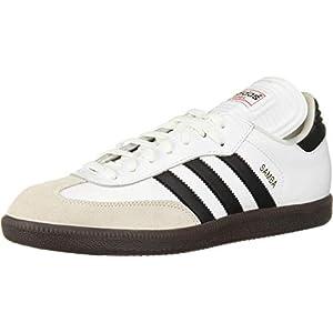 adidas Men's Samba Classic Running Shoe, white/black/white, 10 M US