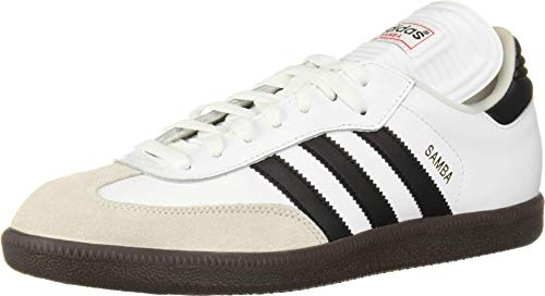 adidas Men's Samba Classic Running Shoe, white/black/white, 7.5 M US