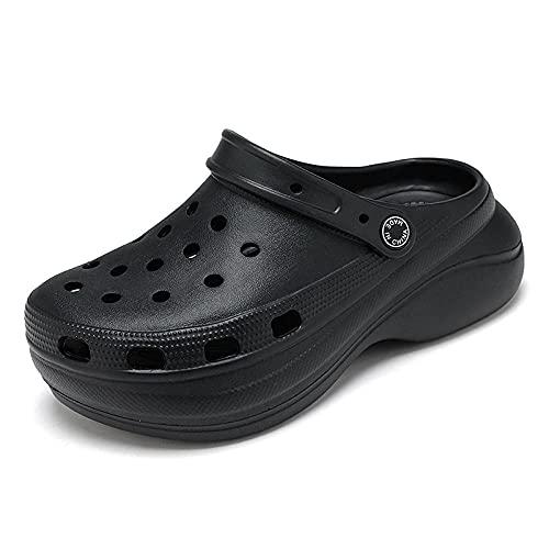 Zapatillas De Casa Mujer Abiertas,Baotou Sandals Sandals Zapatos De Cueva, Sandalias Antideslizantes De Desgaste De Verano para Mujer, Grueso, Alto Nivel, Estudiantes, Salvajes, Zapatillas De JardíN