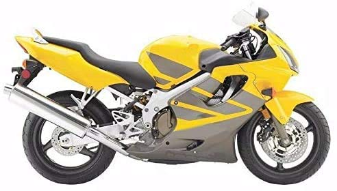 Lorababer Yellow with Silver Flame Full Motorcycle ABS Plastic Injection Fairing Kit Bodywork for Honda 2004-2007 CBR600F4i CBR 600 F4i CBR600 F4i CBR 600F4i 2005 2006 04-07 05 06