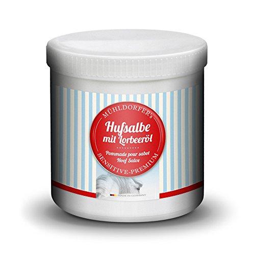 Mühldorfer Hufsalbe mit Lorbeeröl, 750 ml, unterstützt ein gesundes Hufwachstum, kann Hufkrankheiten vorbeugen, Pflegemittel für alle Pferde und Ponys