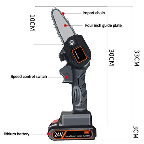 550W Mini Chainsaw 4-Inch Cordless Electric Protable Chainsaw With Rechargeable Battery, 24V Mini Cordless Electric Chainsaw, Pruning Shears Chainsaw For Tree Branch Wood Cutting