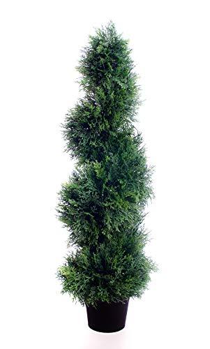 Best Artificial (TM) 90 cm 3 m Cedar spirale topiaire arbre Alt buis Buxus Lot de * * * * * * * * * * * * * * * * UV Fade protégé * * * * * * * * * * * * * * * *
