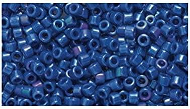 Miyuki Delica Seed Bead 11/0 DB216, Opaque Royal Blue Iris, 9-Gram/Pack
