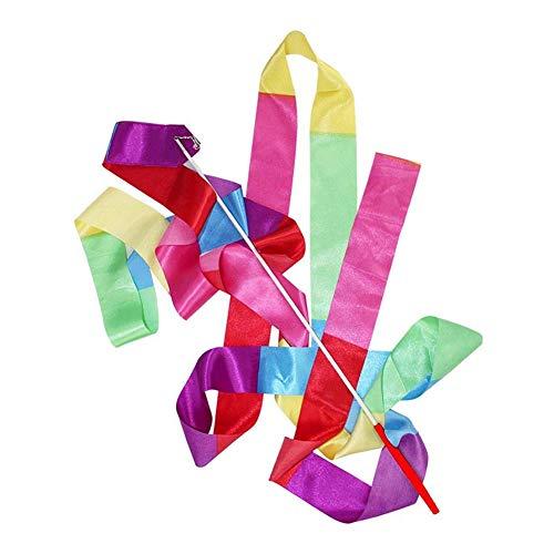 Tanz-bänder, Gymnastik Bar, Rhythmische Streamer 4m Kunstturn Ballen Twirling Rod Weihnachten Für Sport-mischfarbe