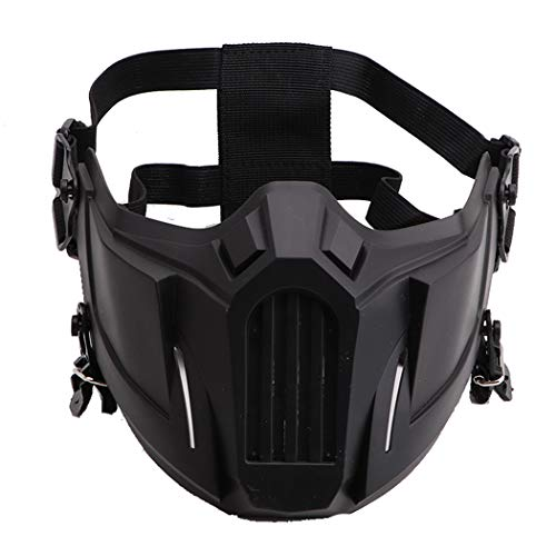 Fansport Airsoft Mask Creative Protective Half Face Mask Outdoor Game Mask Costume Mask Outdoor Sports Masks (Black)