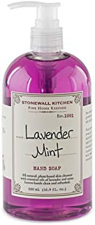Stonewall Kitchen Lavender Mint Hand Soap, 16.9 Ounce Bottle