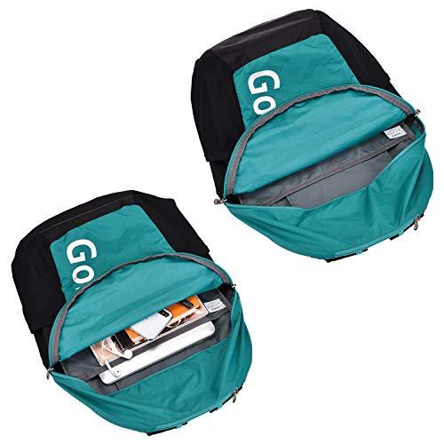 Gonex折りたたみリュック軽量リュック32L防水通気性抜群ハイキングリュック旅行/出張/ハイキング収納ポーチ付(緑)