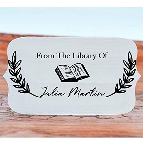 "Book Stamp Thank You Stamp This Belongs to Personalized Self-Inking or Wood Handle Custom Classroom Library Teacher Customized Name from The Ex-Libris of 7/8"" x 2 3/8"" Photo #6"