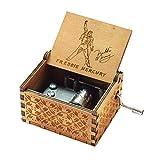 Evelure Caja de música de Madera de Queen, Cajas de música de Madera talladas a Mano y creativos tallados a Mano Los Mejores Regalos (B-Wood)