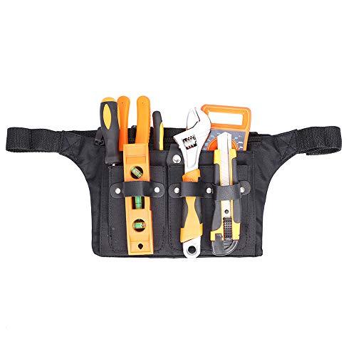 Gartenwerkzeuge Gürteltaschen, Garten Hüfttasche Hängetasche, Gartenwerkzeug Holster Gürtel, Heavy Duty Werkzeug Halter Tasche für Männer/Frauen, Werkzeug Taillengürtel, schwarz