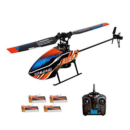 Eachine E119 RC Mini Helicóptero Flybarless 2.4G 4CH 6-Axis Gyro RTF 3pcs 4pcs Versión De Baterías (4 Baterías Mode 1)